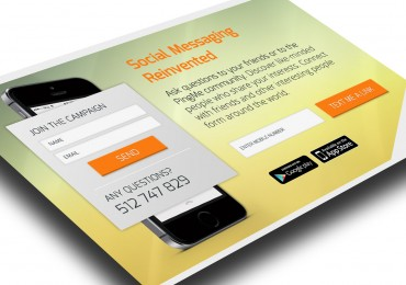 Landing page Social Message